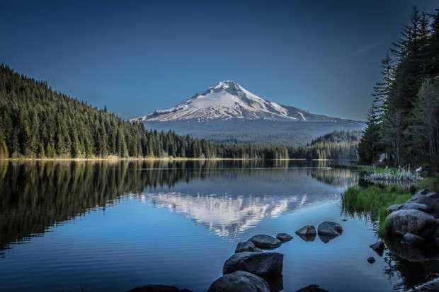 Mount Hood on Trillium Lake