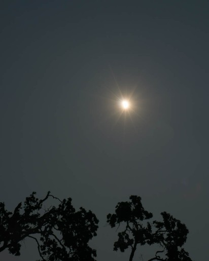 At 10:32, just passed totality